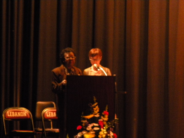 Mayor Amy Brewer and Mrs. Barbara Younger